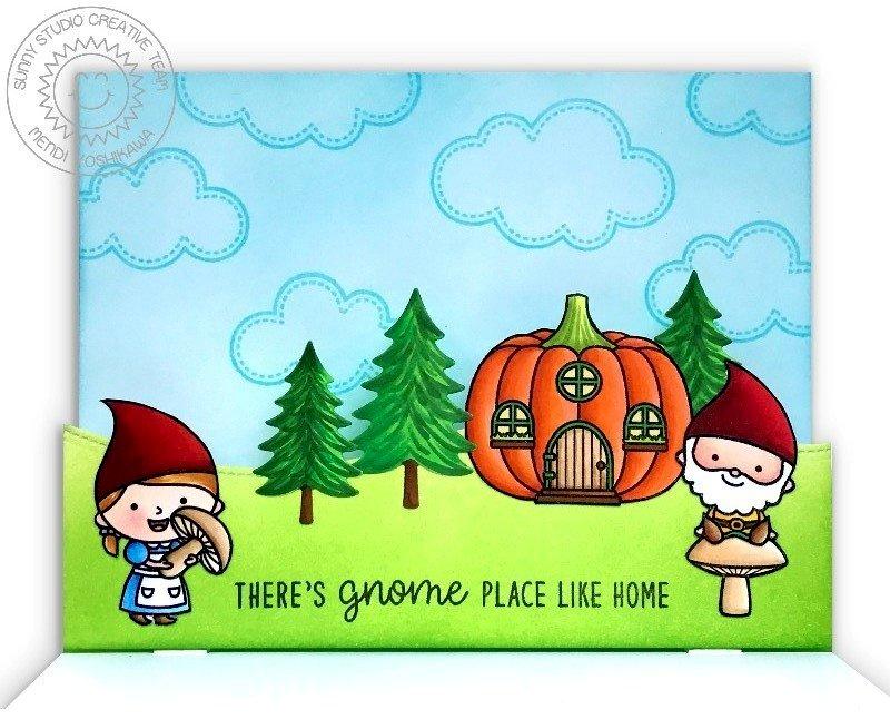 Sunny Studio Home Sweet Gnome Card by Mendi Yoshikawa