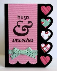 American Crafts XOXO Valentine card by Mendi Yoshikawa