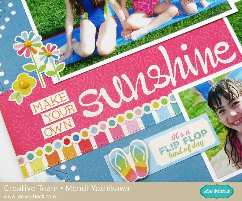 Echo Park I Love Sunshine Layout by Mendi Yoshikawa