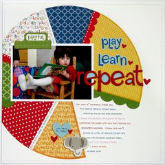 Bella Blvd. Tiny Tots Pie Chart Layout by Mendi Yoshikawa