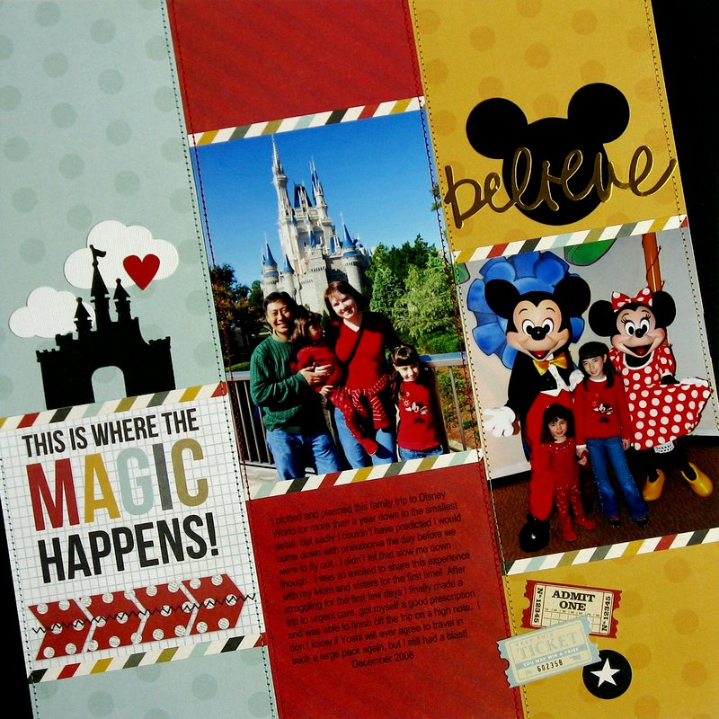Simple Stories Say Cheese Disney Magic Layout by Mendi Yoshikawa