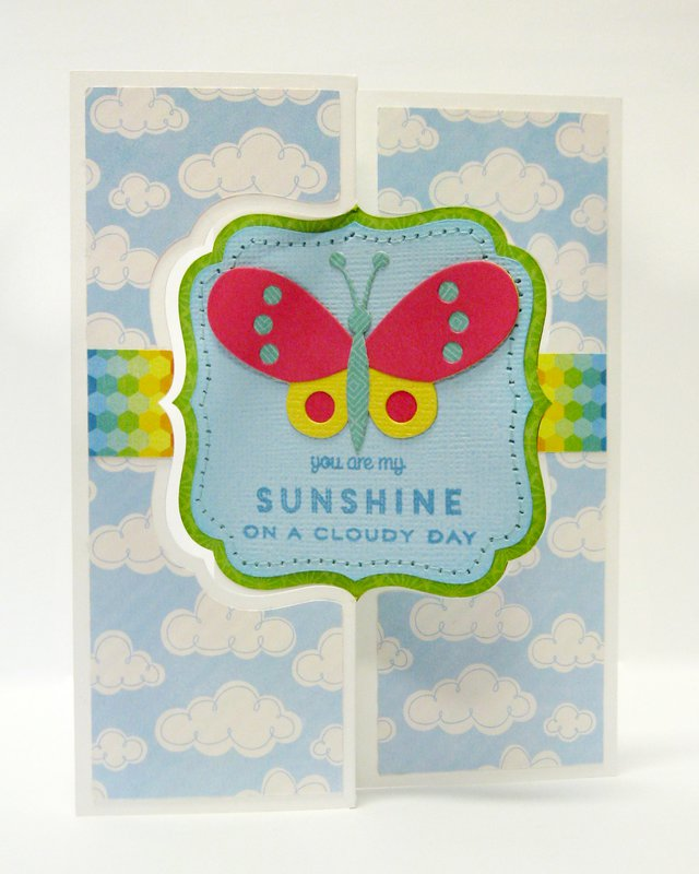 Echo Park I Love Sunshine Butterfly Flip Card by Mendi Yoshikawa