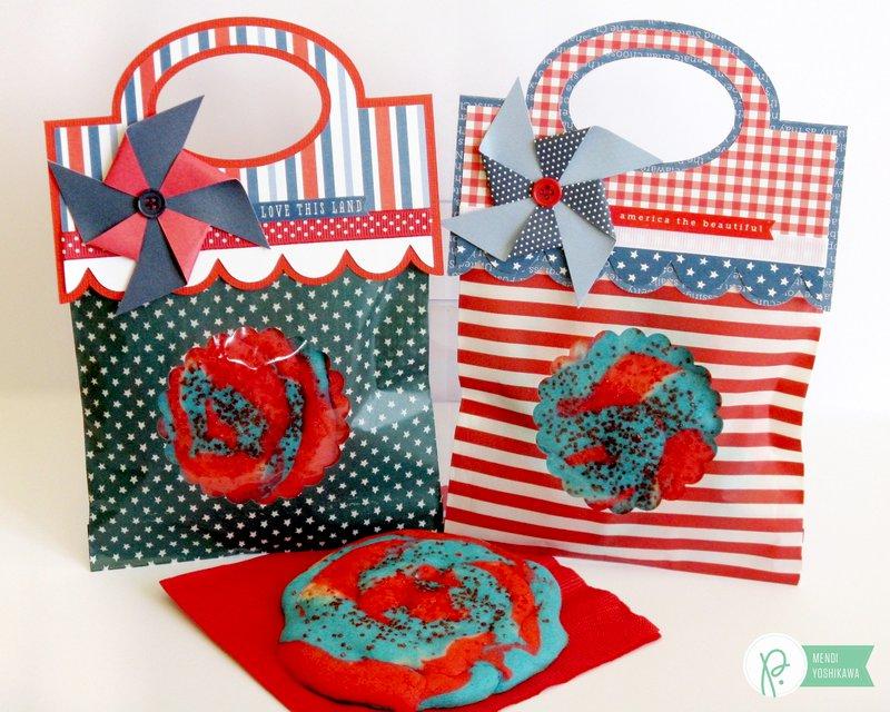 Pebbles Americana Patriotic Treat Bags by Mendi Yoshikawa