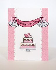 Lawn Fawn Happy Wedding Card by Mendi Yoshikawa
