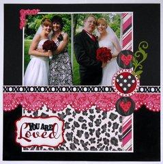 Echo Park Love Story Wedding Layout by Mendi Yoshikawa