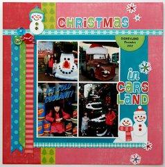 Lori Whitlock Frosty Snowman Hybrid Layout by Mendi Yoshikawa