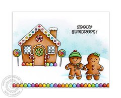 Sunny Studio Jolly Gingerbread Christmas Card by Mendi Yoshikawa