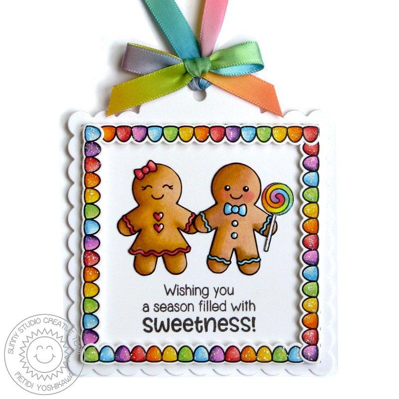 Sunny Studio Jolly Gingerbread Christmas Card by Mendi Yoshikawa