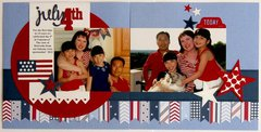 Pebbles Inc. Let Freedom Ring 4th of July layout by Mendi Yoshikawa
