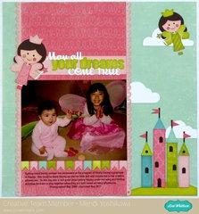 A Lori Whitlock Fairy Princess Layout by Mendi Yoshikawa