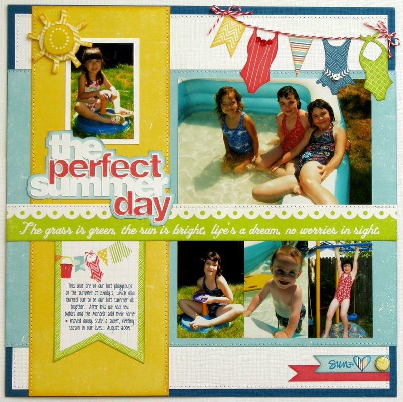 Echo Park Perfect Summer Pool Layout by Mendi Yoshikawa