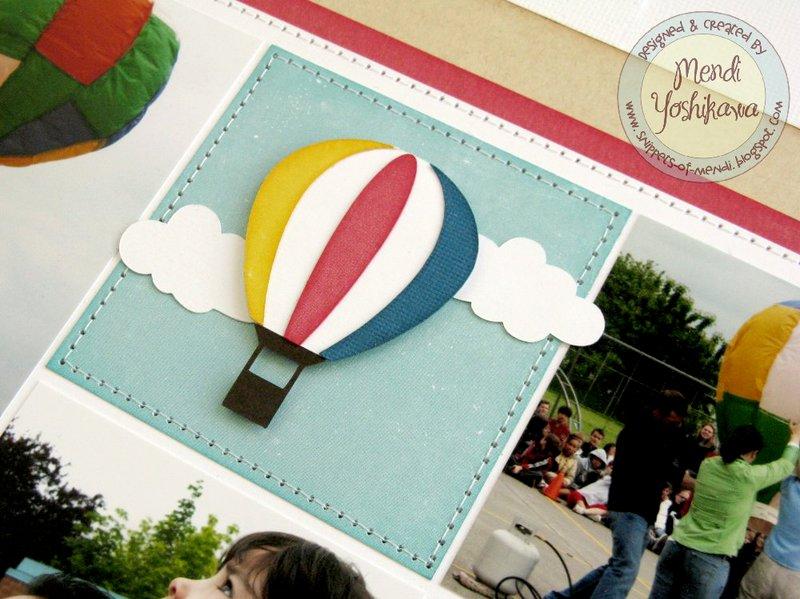 An Echo Park Perfect Summer Hot Air Balloon Layout