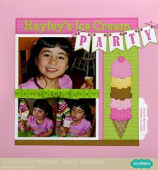 Lori Whitlock Ice Cream Party Layout by Mendi Yoshikawa