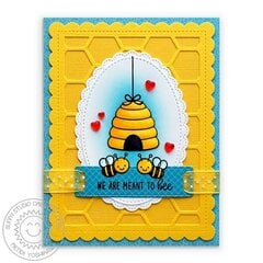 Sunny Studio Just Bee-Cause Card by Mendi Yoshikawa
