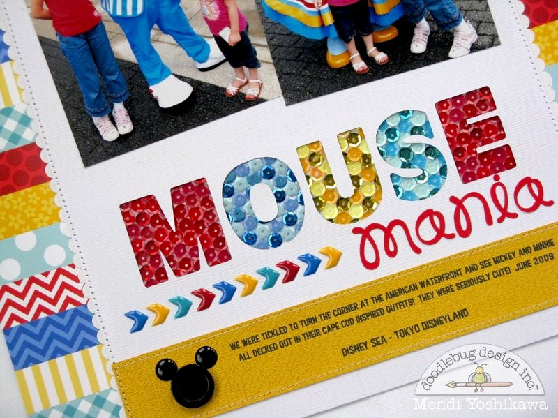 Doodlebug Kraft In Color Disney Layout by Mendi Yoshikawa