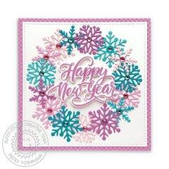 Sunny Studio Lacy Snowflake Card by Mendi Yoshikawa