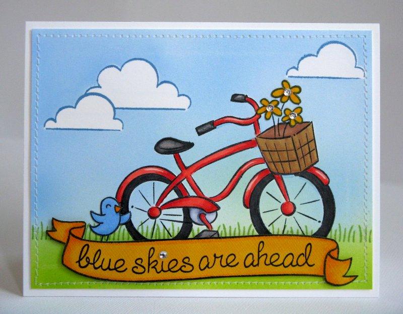 A Lawn Fawn Encouragement Card by Mendi Yoshikawa