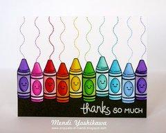 Lawn Fawn Color My World Card by Mendi Yoshikawa