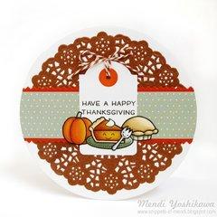 Lawn Fawn Thanksgiving Fall Cards by Mendi Yoshikawa