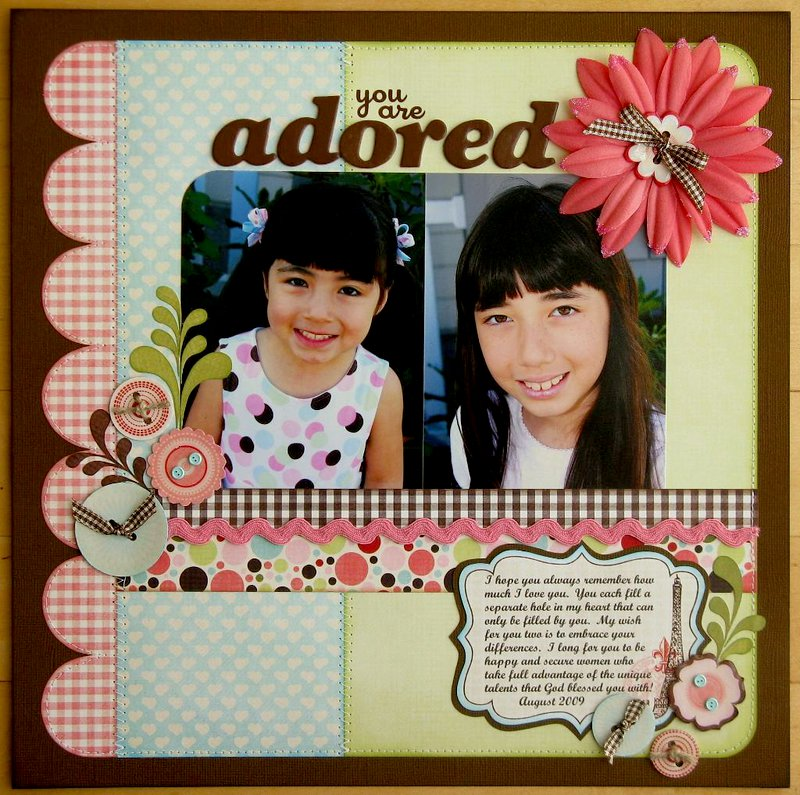 "A Pink Paislee ""Cupid"" Layout by Mendi Yoshikawa"