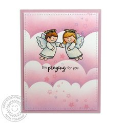 Sunny Studio Little Angels Praying for You card by Mendi
