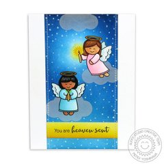 Sunny Studio Little Angels card by Mendi Yoshikawa