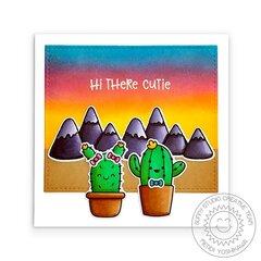 Sunny Studio Looking Sharp Cactus Card by Mendi Yoshikawa