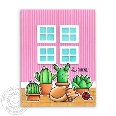 Sunny Studio Looking Sharp Cactus Card by Mendi Yoshikawa