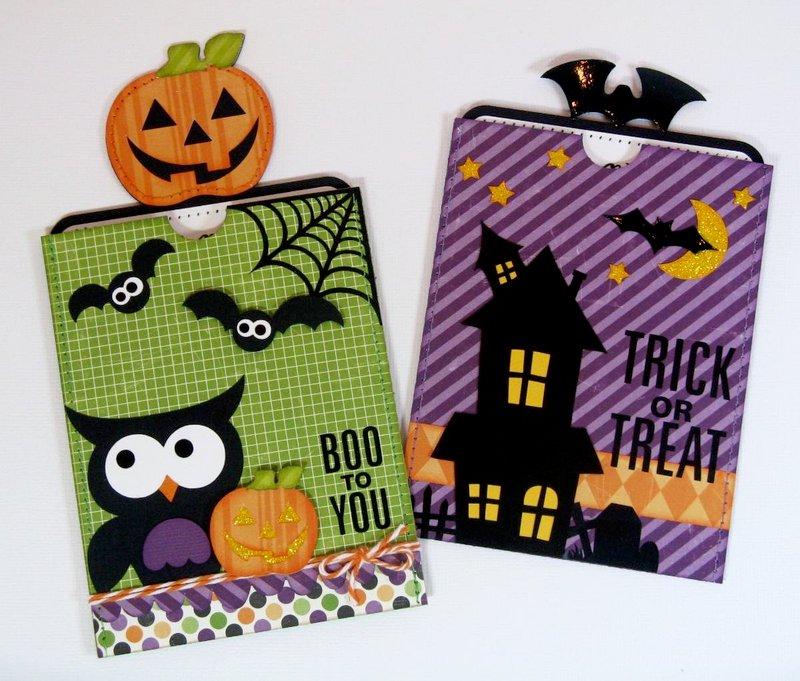 Echo Park/ Lori Whitlock Halloween Pocket Cards by Mendi Yoshikawa