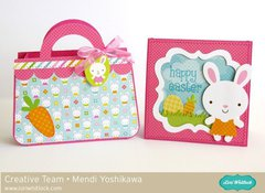 Doodlebug Easter Parade Purse Gift Bag by Mendi Yoshikawa