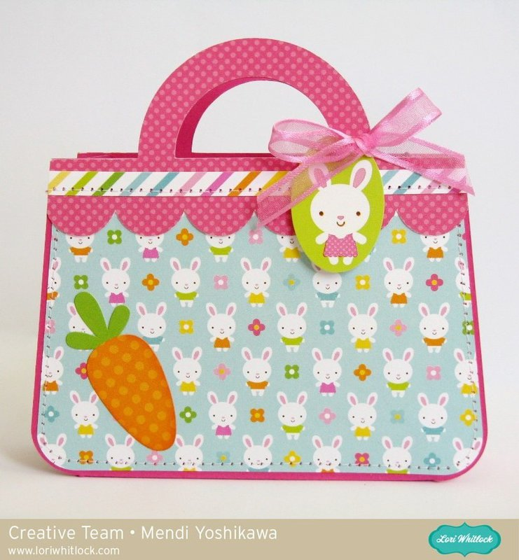 Doodlebug Easter Parade Purse Gift Bag by Mendi Yoshikawa