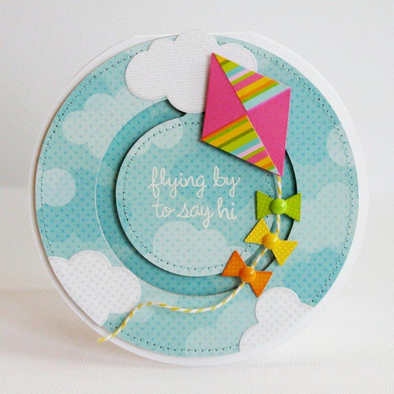 Lori Whitlock Kite Penny Slider Card by Mendi Yoshikawa