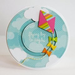 Lori Whitlock Kite Penny Slider Card by Mendi Yoshikawa