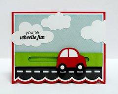 Lori Whitlock Car Penny Slider Card by Mendi Yoshikawa
