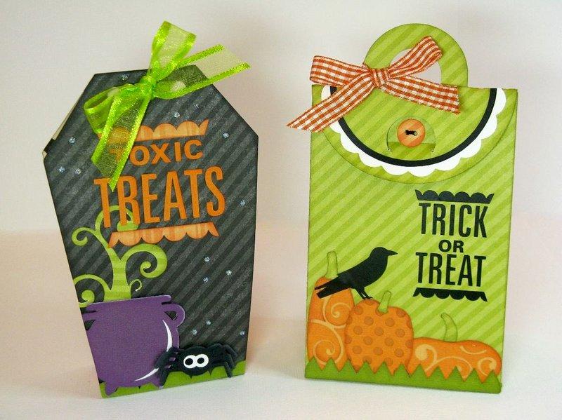 Lori Whitlock Echo Park Halloween Treat Boxes by Mendi Yoshikawa