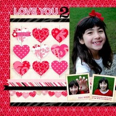 An Echo Park Love Story digital Layout by Mendi Yoshikawa