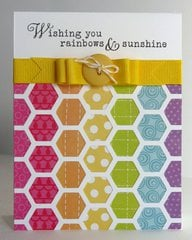 Echo Park Summer Days Rainbow Hexagon Card by Mendi Yoshikawa