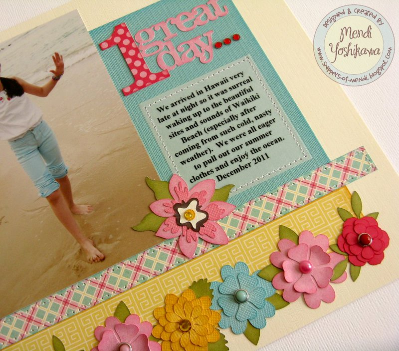 An Echo Park Sweet Girl 2-page 8x8 layout