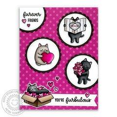 Sunny Studio Stamps Meow & Furever Card by Mendi Yoshikawa