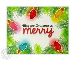 Sunny Studio Merry Sentiments Christmas Card by Mendi