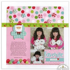 Doodlebug Milk and Cookies Christmas Layout by Mendi Yoshikawa
