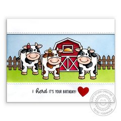 Sunny Studio Stamps Miss Moo Cow Card by Mendi Yoshikawa