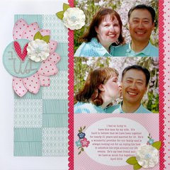 My Creative Scrapbook I Heart Us Layout by Mendi Yoshikawa