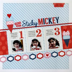 My Creative Scrapbook Sticky Mickey Layout by Mendi Yoshikawa