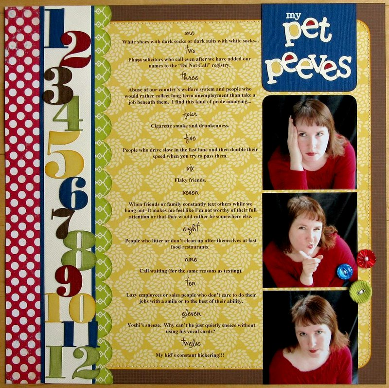 A Pebbles Pet Peeves Layout by Mendi Yoshikawa