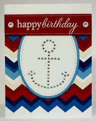 A Papertrey Ink Nautical Birthday Card by Mendi Yoshikawa