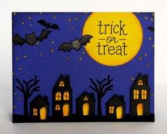 A Lawn Fawn Halloween Card by Mendi Yoshikawa
