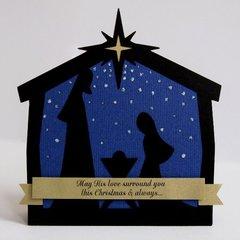 A Nativity Shaped Christmas Card by Mendi Yoshikawa