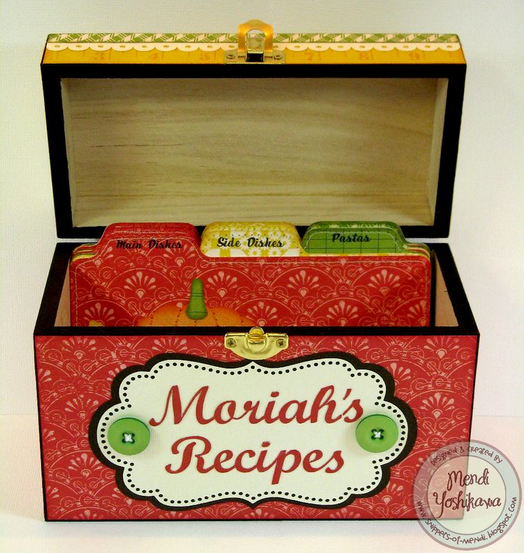 An Echo Park For the Record 2 Recipe Box