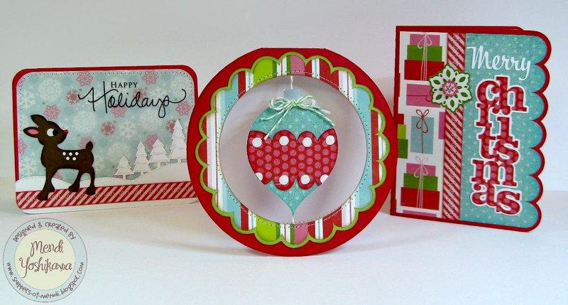 Echo Park Happy Holiday Christmas Cards by Mendi Yoshikawa